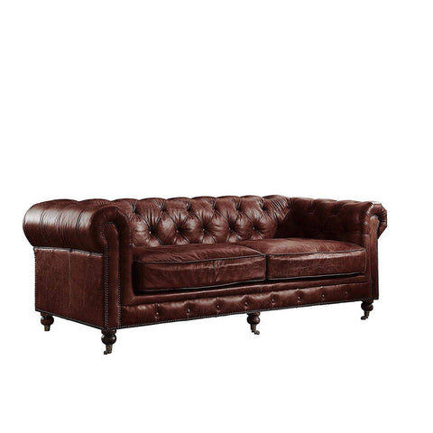 Acme Aberdeen Top Grain Leather 3 PC Living Room Set-Living Room Sets-Acme-bedsville.com