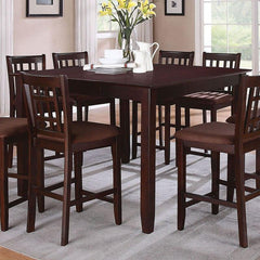 Acme Furniture Adalia 5 Pc Dark Chocolate Microfiber and Walnut Dining Set