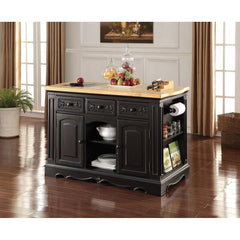 Acme Ariuk Antique Black 72560 Kitchen Cabinet-Kitchen Cabinets-Acme-bedsville.com
