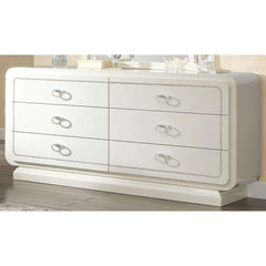 Acme Bellagio 20395 Ivory High Gloss Finish Dresser