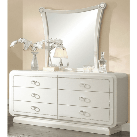 Acme Bellagio 20395 Ivory High Gloss Finish Dresser-Dressers-Acme-bedsville.com