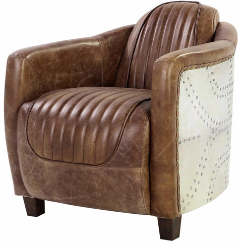 Acme Brancaster 53547 Top Grain Leather Living Room Chair-Arm Chairs-Acme-Chair-bedsville.com