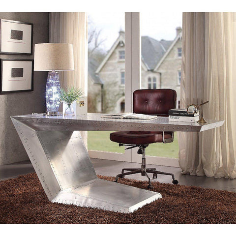 Acme Brancaster 92025 Aluminum Office Desk-Office Desks-Acme-Office Desks-bedsville.com