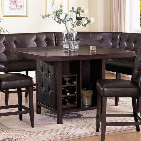 Acme Bravo 07055 6- Piece Dining Set in Espresso PU and Espresso Finish-Dining Table Sets-Acme-bedsville.com