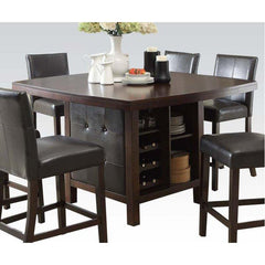 Acme Bravo 07250 7-Piece Dining Set in Espresso PU and Espresso Finish