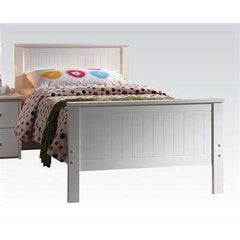 Acme Bungalow White Rubber Wood 30025 Panel Bed