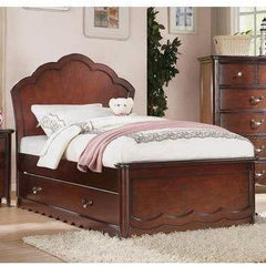 Acme Cecilie Cherry Panel Headboard Trundle Bed-Storage Beds-Acme-Twin Bed-bedsville.com