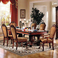 Acme Chateau De Ville Double Pedestal Espresso 7-Piece Dining Set