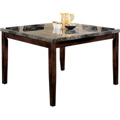 Acme Danville 07059 7-Piece Dining Set in Black Marble Top and Walnut Finish