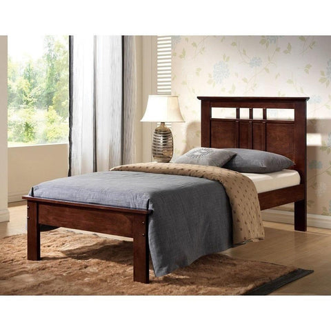 Acme Donato Solid Wood Twin 21520T Panel Bed-Panel Beds-Acme-Cappucino-bedsville.com