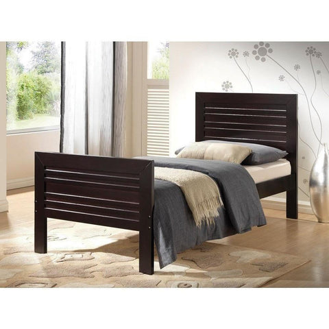 Acme Donato Solid Wood Twin 21520T Panel Bed-Panel Beds-Acme-Wenge-bedsville.com