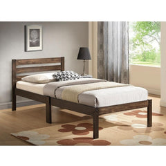 Acme Donato Solid Wood Twin 21520T Panel Bed-Panel Beds-Acme-Ash Brown-bedsville.com