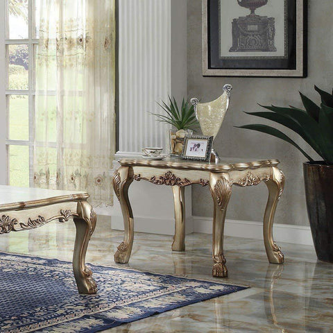 Acme Dresden 83161 Gold Patina End Table-End Tables-Acme-bedsville.com