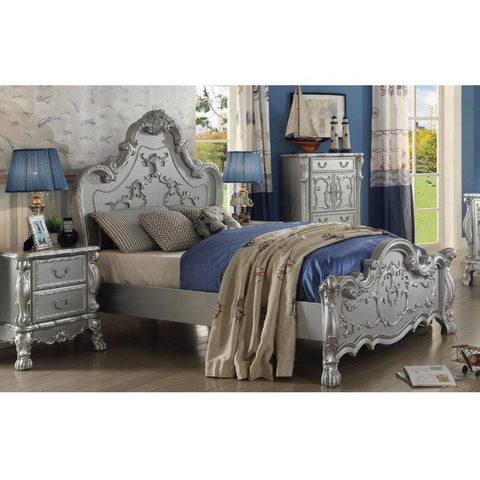 Acme Dresden Silver Teenage Panel Bed-Panel Beds-Acme-Full-bedsville.com