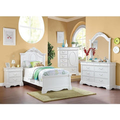 Acme Estrella White Pine Wood 30240 Panel Bed-Panel Beds-Acme-Twin-bedsville.com