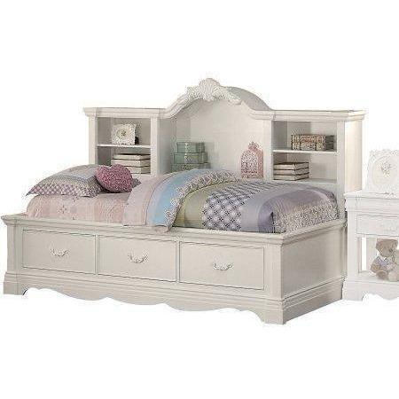 Acme Estrella White Pine Wood 39150 Daybed with Storage-Daybeds-Acme-Daybed Only-bedsville.com