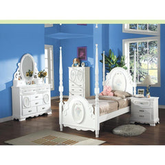 Acme Flora 01665 White Dresser With Doors