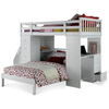Image of Acme Freya White Solid Wood 37145 Twin Loft Bed with Storage-Loft Beds-Acme-Loft Beds-bedsville.com