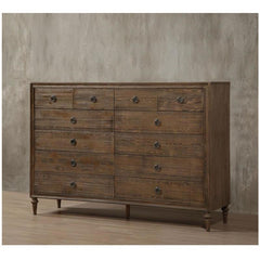 Acme Inverness 26097 Reclaimed Oak Finish 12 Drawers Dresser-Dressers-Acme-bedsville.com