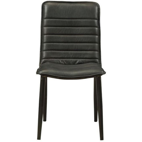 Acme Kaylia 70422 Top Grain Leather 2 Dining Chairs-Dining Chairs-Acme-Dining Chairs-bedsville.com