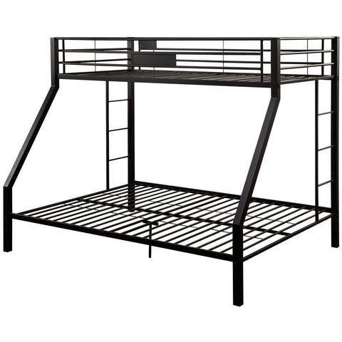 Acme Limbra Black Metal 38000 Twin XL over Queen Bunk Bed-Bunk Beds-Acme-Bunk Beds-bedsville.com