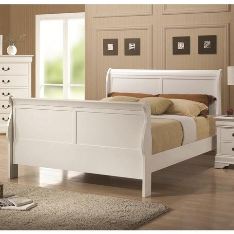 Acme Louis Philippe III White Pine Wood 24515 Teenage Sleigh Bed-Sleigh Beds-Acme-Full-bedsville.com