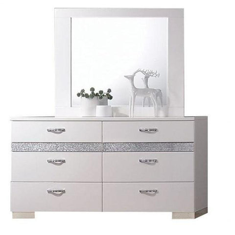 Acme Naima II 26775 White High Gloss Finish Dresser-Dressers-Acme-bedsville.com