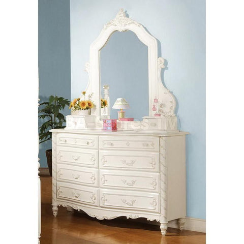 Acme Pearl 01020 Pearl White Dresser With 8 Drawers-Dressers-Acme-bedsville.com