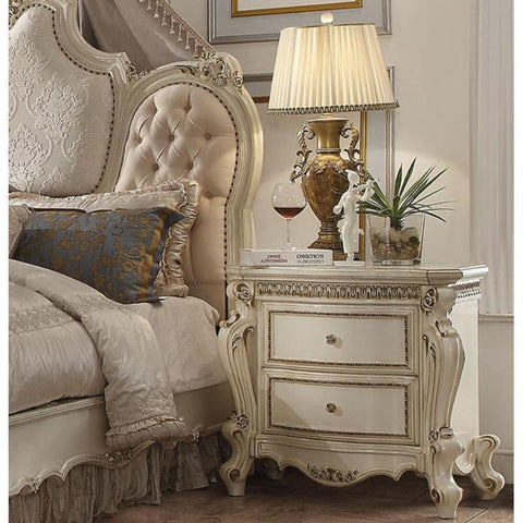 Acme Picardy 26883 Antique Pearl Nightstand-Nightstands-Acme-bedsville.com