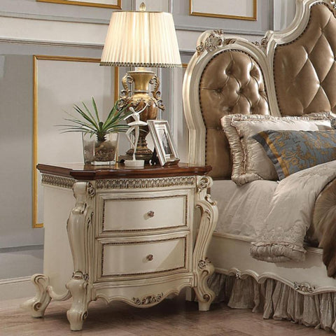 Acme Picardy 26903 Antique Pearl Nightstand-Nightstands-Acme-bedsville.com