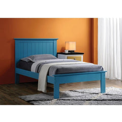 Acme Prentiss Blue Solid Wood Panel Bed-Panel Beds-Acme-Twin-bedsville.com