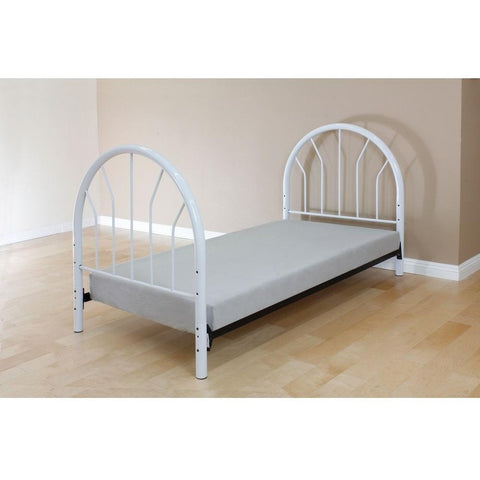 Acme Silhouette Twin Metal 02054 Panel Bed-Panel Beds-Acme-White-bedsville.com