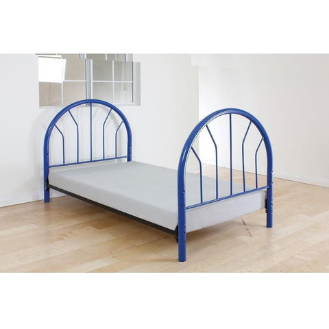 Acme Silhouette Twin Metal 02054 Panel Bed-Panel Beds-Acme-Blue-bedsville.com