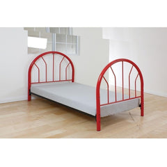 Acme Silhouette Twin Metal 02054 Panel Bed-Panel Beds-Acme-Red-bedsville.com