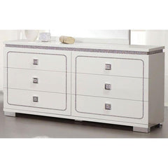 Acme Valentina 20255 White High Gloss Finish Dresser