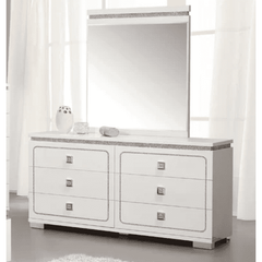 Acme Valentina 20255 White High Gloss Finish Dresser-Dressers-Acme-bedsville.com
