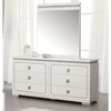 Image of Acme Valentina 20255 White High Gloss Finish Dresser-Dressers-Acme-bedsville.com