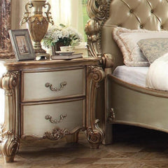 Acme Vendome 23003 Gold Patina Nightstand-Nightstands-Acme-bedsville.com