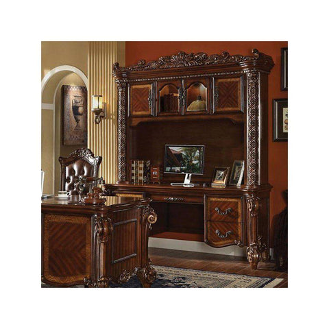 Acme Vendome Office Desk and Hutch 92128 in Cherry Finish-Office Desks-Acme-bedsville.com