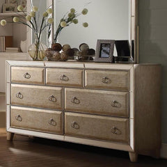 Acme Voeville 21005 Antique Gold Finish Dresser