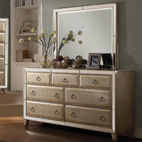 Acme Voeville 21005 Antique Gold Finish Dresser-Dressers-Acme-bedsville.com