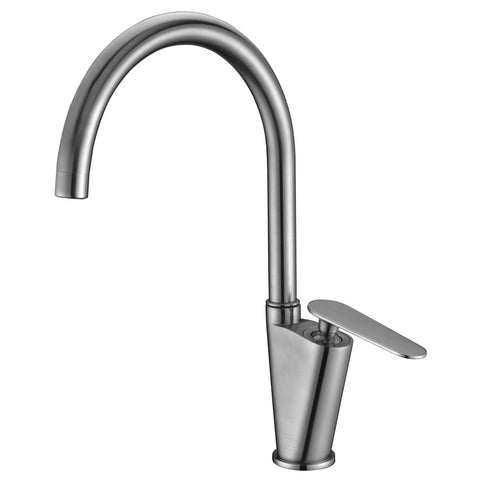 ALFI brand Brushed Nickel AB3600-BN Gooseneck Bathroom Faucet-Waterfall Bathroom Faucets-Alfi-bedsville.com