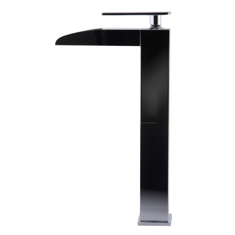 ALFI brand Polished Chrome AB1597-PC Tall Waterfall Bathroom Faucet-Waterfall Bathroom Faucets-Alfi-bedsville.com