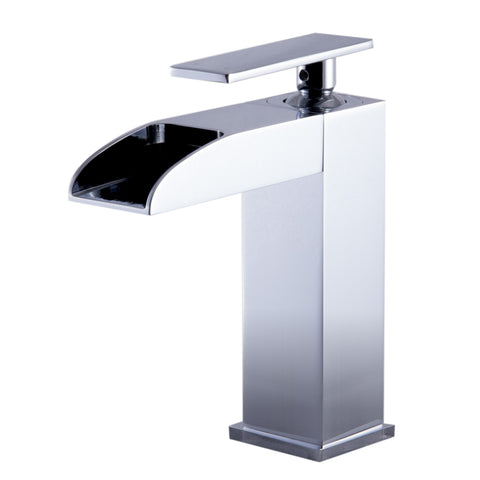 ALFI brand Polished Chrome AB1598-PC Waterfall Bathroom Faucet-Waterfall Bathroom Faucets-Alfi-bedsville.com
