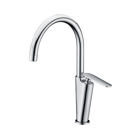 ALFI brand Polished Chrome AB3600-PC Gooseneck Bathroom Faucet-Waterfall Bathroom Faucets-Alfi-bedsville.com