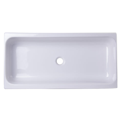 ALFI brand White AB36TR Above Mount Fireclay Bath Trough Sink-Above Mount Sinks-Alfi-bedsville.com