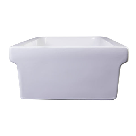 ALFI brand White AB48TR Above Mount Fireclay Bath Trough Sink-Above Mount Sinks-Alfi-bedsville.com