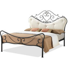 Baxton Studio Alanna LEN3101 Black Queen Size Panel Bed