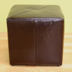 Baxton Studio Aric Bonded Leather ST-20-brown Ottoman-Ottomans-Baxton Studio-bedsville.com