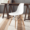 Image of Baxton Studio Azzo Plastic Side 2 Dining Chairs-Dining Chairs-Baxton Studio-bedsville.com